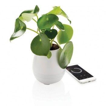 Blumentopf Lautsprecher, weiß